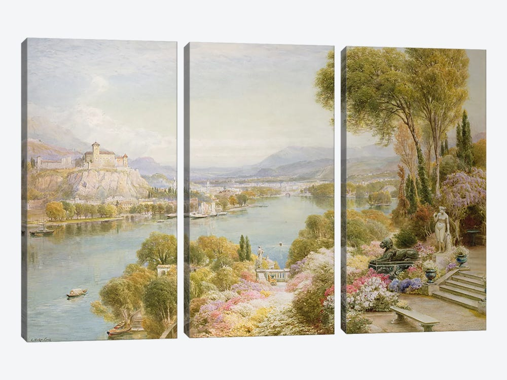 Lake Maggiore  by Ebenezer Wake-Cook 3-piece Canvas Wall Art