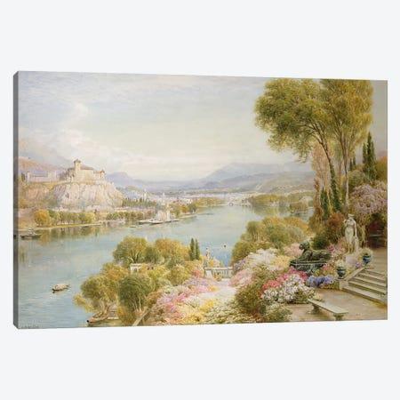 Lake Maggiore  Canvas Print #BMN3735} by Ebenezer Wake-Cook Canvas Wall Art