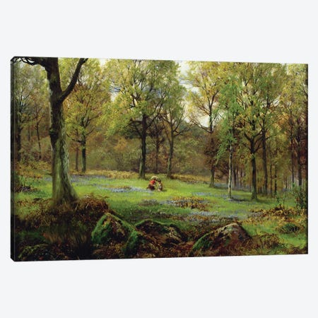 In the Woods  Canvas Print #BMN3739} by Henry Crossland Art Print