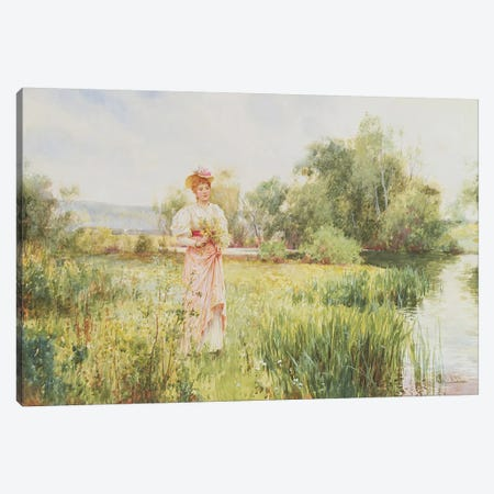 By the River, 1896  Canvas Print #BMN3741} by Alfred Glendening Canvas Art