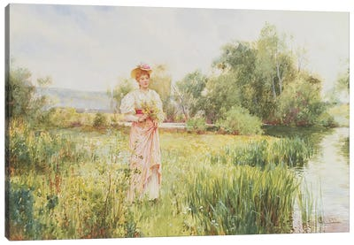 By the River, 1896  Canvas Art Print