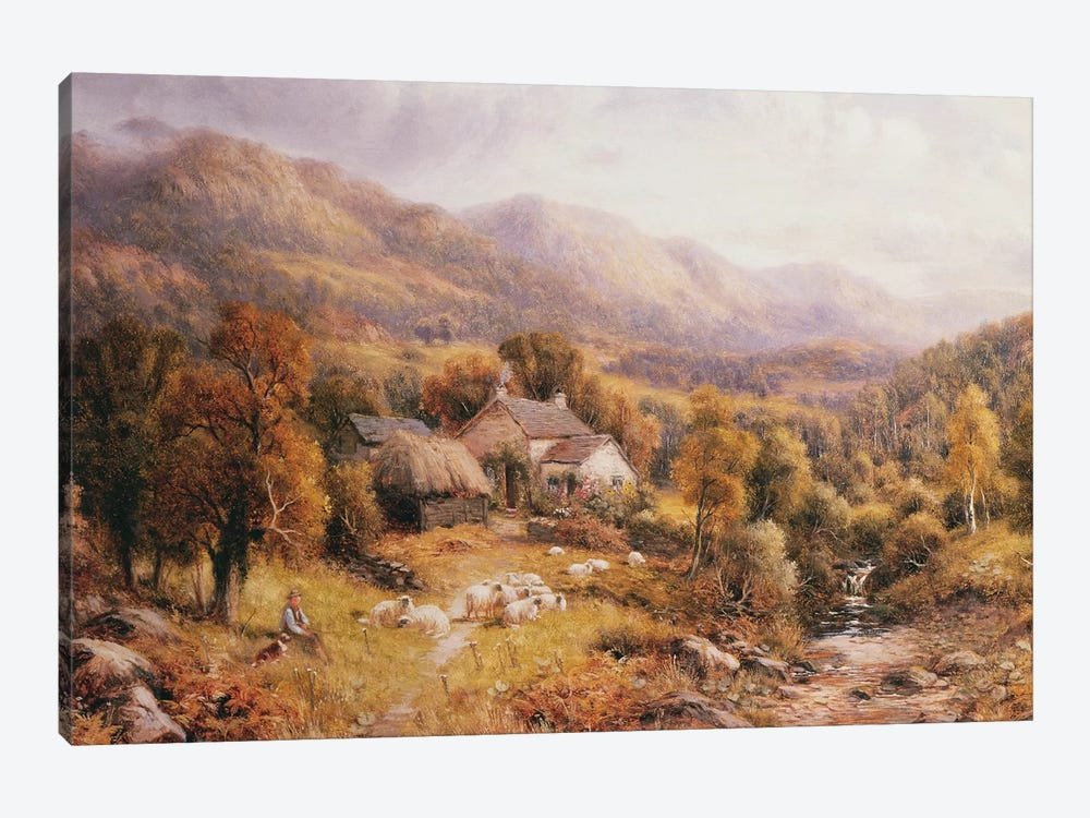 Near Bettws, North Wales  by Robert John Hammond 1-piece Art Print