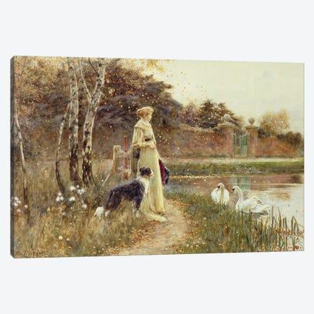 Autumn Leaves, 1895  Canvas Print #BMN3759} by Thomas James Lloyd Canvas Art Print