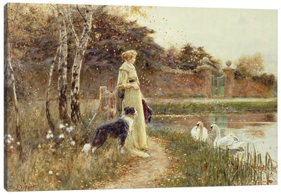 Autumn Leaves, 1895  Canvas Art Print