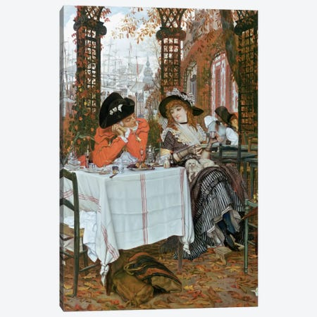 A Luncheon  Canvas Print #BMN375} by James Jacques Joseph Tissot Canvas Print