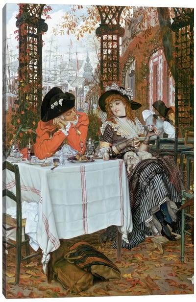 A Luncheon  Canvas Art Print