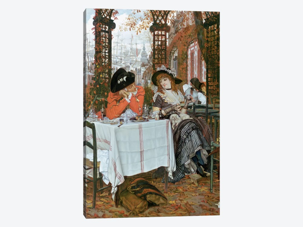 A Luncheon  by James Jacques Joseph Tissot 1-piece Canvas Print