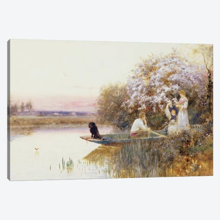 Picking Blossoms. 1895  Canvas Print #BMN3760} by Thomas James Lloyd Canvas Art