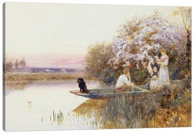 Picking Blossoms. 1895  Canvas Art Print
