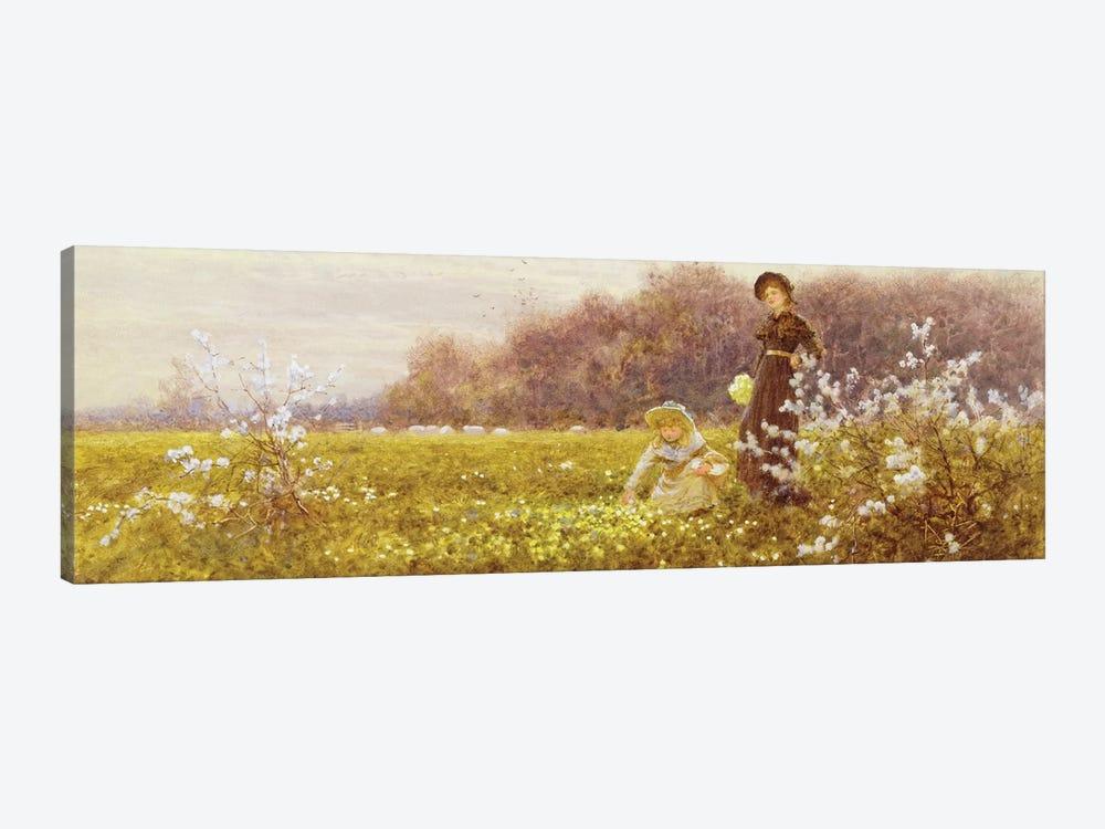 Picking Primroses, 1896  by Thomas James Lloyd 1-piece Canvas Art Print