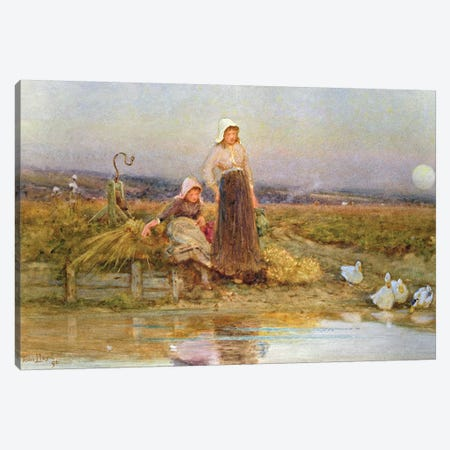 The Gleaners, 1896  Canvas Print #BMN3764} by Thomas James Lloyd Canvas Print