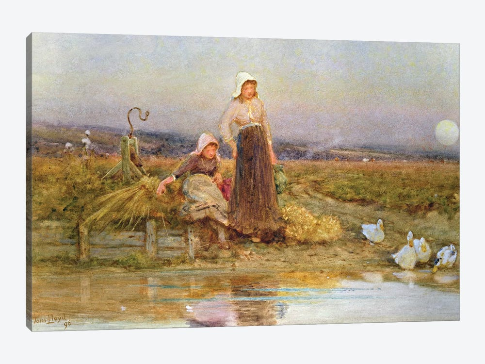 The Gleaners, 1896  by Thomas James Lloyd 1-piece Canvas Artwork