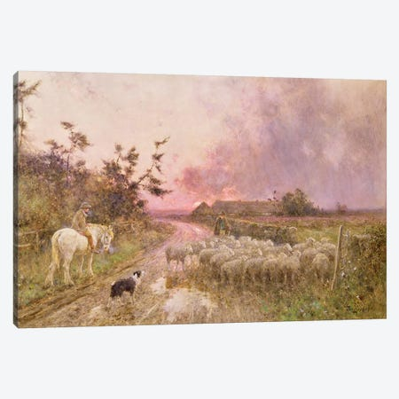 At the End of the Day, 1910  Canvas Print #BMN3765} by Thomas James Lloyd Canvas Print