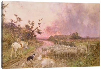 At the End of the Day, 1910 Canvas Art Print