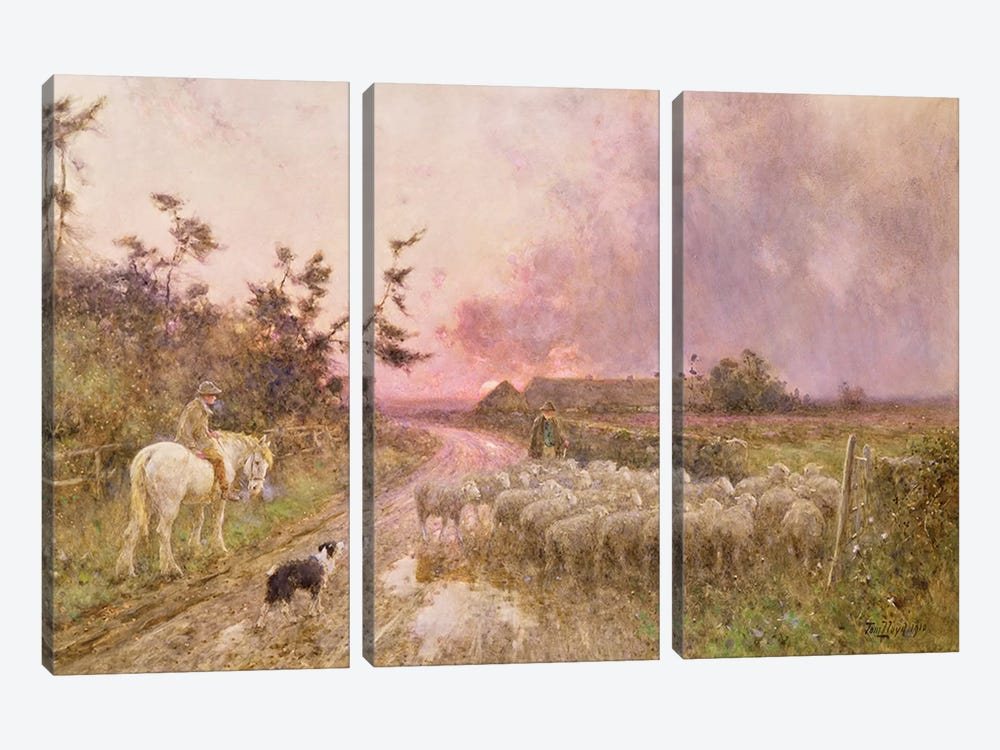 At the End of the Day, 1910  by Thomas James Lloyd 3-piece Canvas Art Print