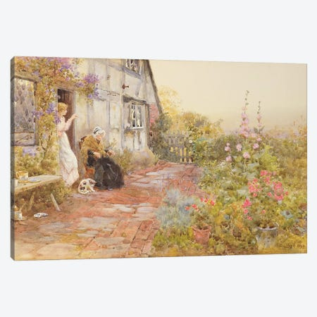 Grandmother, 1894  Canvas Print #BMN3767} by Thomas James Lloyd Canvas Print