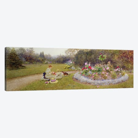 The Rose Garden, 1903  Canvas Print #BMN3768} by Thomas James Lloyd Canvas Artwork
