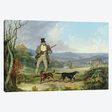 The Afternoon Shoot Canvas Print #BMN376} by Philip Reinagle Canvas Art Print