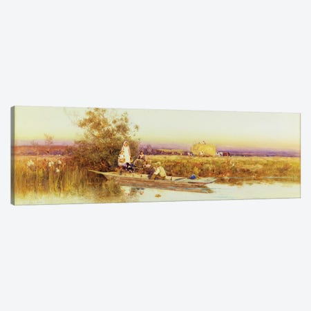 In the Punt, 1895  Canvas Print #BMN3770} by Thomas James Lloyd Canvas Art Print