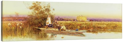 In the Punt, 1895  Canvas Art Print