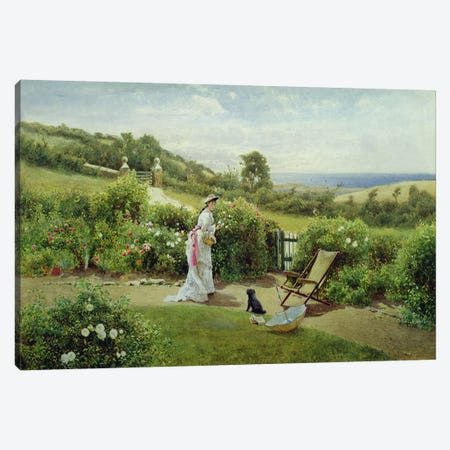 In the Garden, 1903  Canvas Print #BMN3772} by Thomas James Lloyd Canvas Print