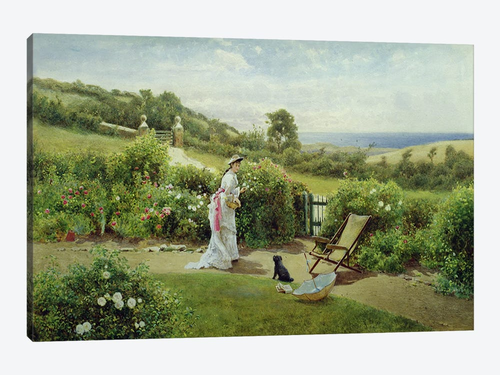 In the Garden, 1903 by Thomas James Lloyd 1-piece Canvas Art Print