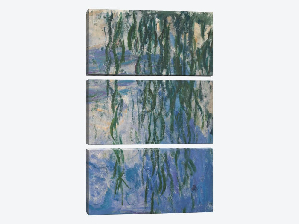 Waterlilies, 1916-19 by Claude Monet 3-piece Canvas Art