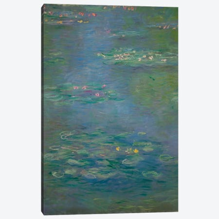 Waterlilies, detail, 1903  Canvas Print #BMN3776} by Claude Monet Canvas Artwork