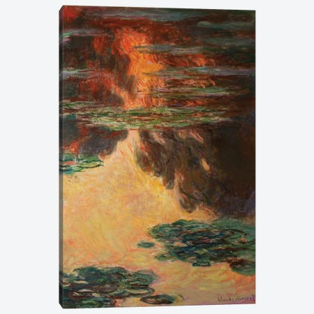 Waterlilies, detail, 1907   Canvas Print #BMN3778} by Claude Monet Canvas Art Print