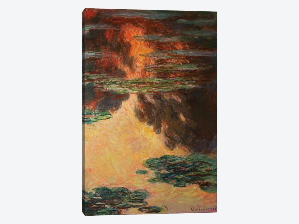 Waterlilies, detail, 1907   by Claude Monet 1-piece Canvas Print