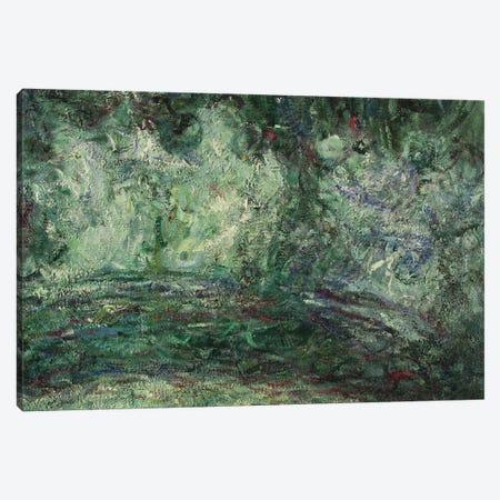 The Japanese Bridge, detail, 1918-19   Canvas Print #BMN3780} by Claude Monet Canvas Artwork