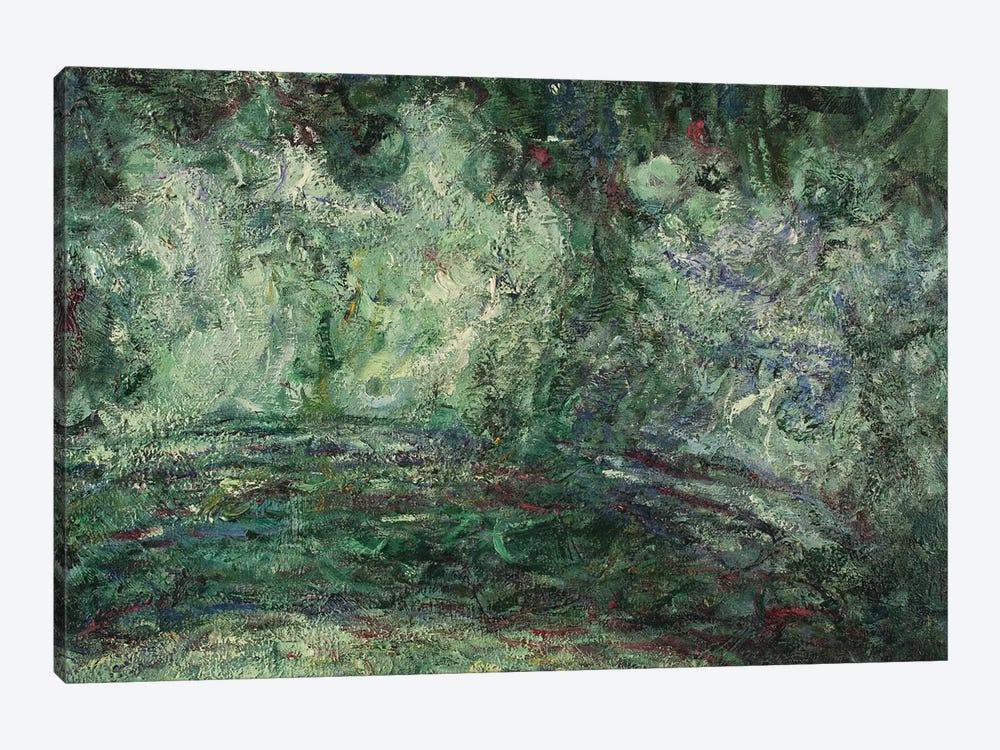The Japanese Bridge, detail, 1918-19   by Claude Monet 1-piece Canvas Artwork