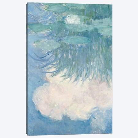 Waterlilies, detail, 1914-17   Canvas Print #BMN3781} by Claude Monet Canvas Artwork