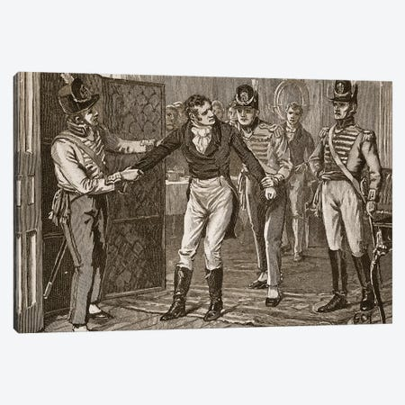 Arrest of Sir Francis Burdett, illustration from 'Cassell's Illustrated History of England'  Canvas Print #BMN3785} by English School Canvas Print