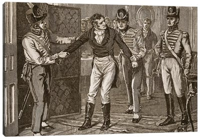 Arrest of Sir Francis Burdett, illustration from 'Cassell's Illustrated History of England'  Canvas Art Print