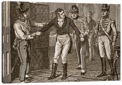 Arrest of Sir Francis Burdett, illustration from 'Cassell's Illustrated History of England'  Canvas Art Print