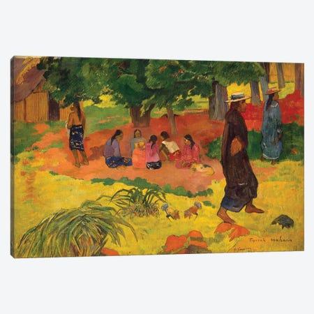 Taperaa Mahana, 1892  Canvas Print #BMN3790} by Paul Gauguin Canvas Art Print