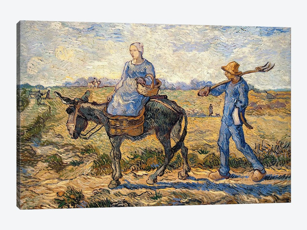 Morning, going out to work, 1888  by Vincent van Gogh 1-piece Canvas Wall Art