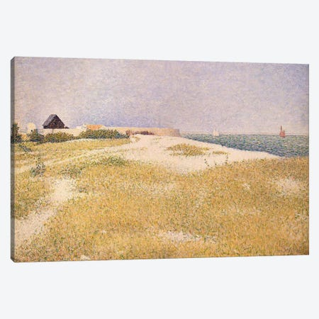 View of Fort Samson, 1885  Canvas Print #BMN3796} by Georges Seurat Canvas Artwork