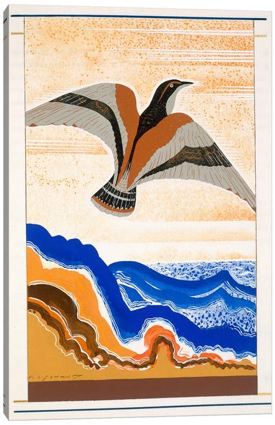 Bird of Portent, an illustration from 'L'Odyssee', by Homer, translated by Victor Berard, 1929-33  Canvas Art Print