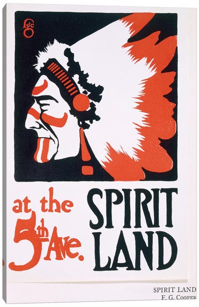 Poster for 'Spirit Land', an Indian Experience venue on Fifth Avenue  Canvas Art Print