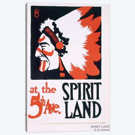 Poster for 'Spirit Land', an Indian Experience venue on Fifth Avenue  Canvas Print #BMN3799} by Frederic G. Cooper Art Print