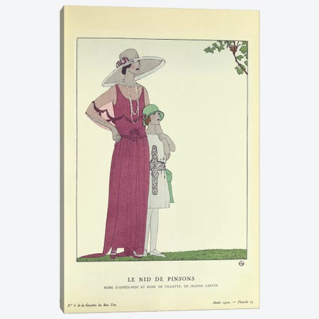 Le Nid de Pinsons, from 'Le Gazette du Bon Ton' 1922 (colour litho) Canvas Print #BMN37} by French School Canvas Art