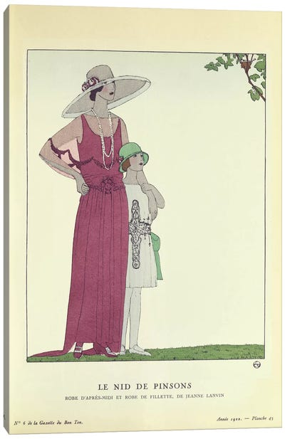 Le Nid de Pinsons, from 'Le Gazette du Bon Ton' 1922 (colour litho) Canvas Print #BMN37