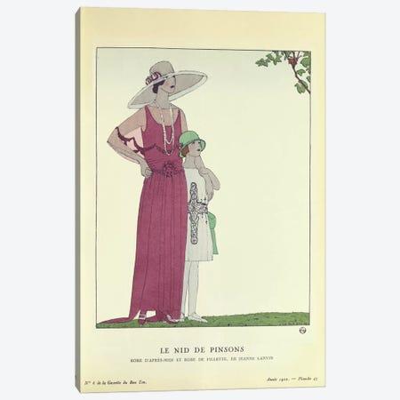 Le Nid de Pinsons, from 'Le Gazette du Bon Ton' 1922 (colour litho) Canvas Print #BMN37} by French School Canvas Art