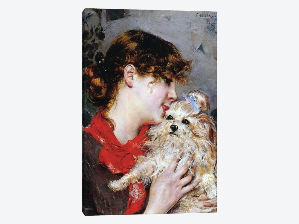 The actress Rejane and her dog, c.1885  1-piece Art Print