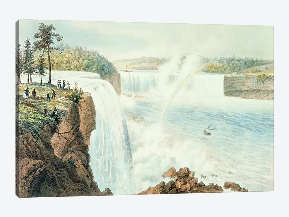 Niagra Falls by Augustus Kollner 1-piece Canvas Artwork