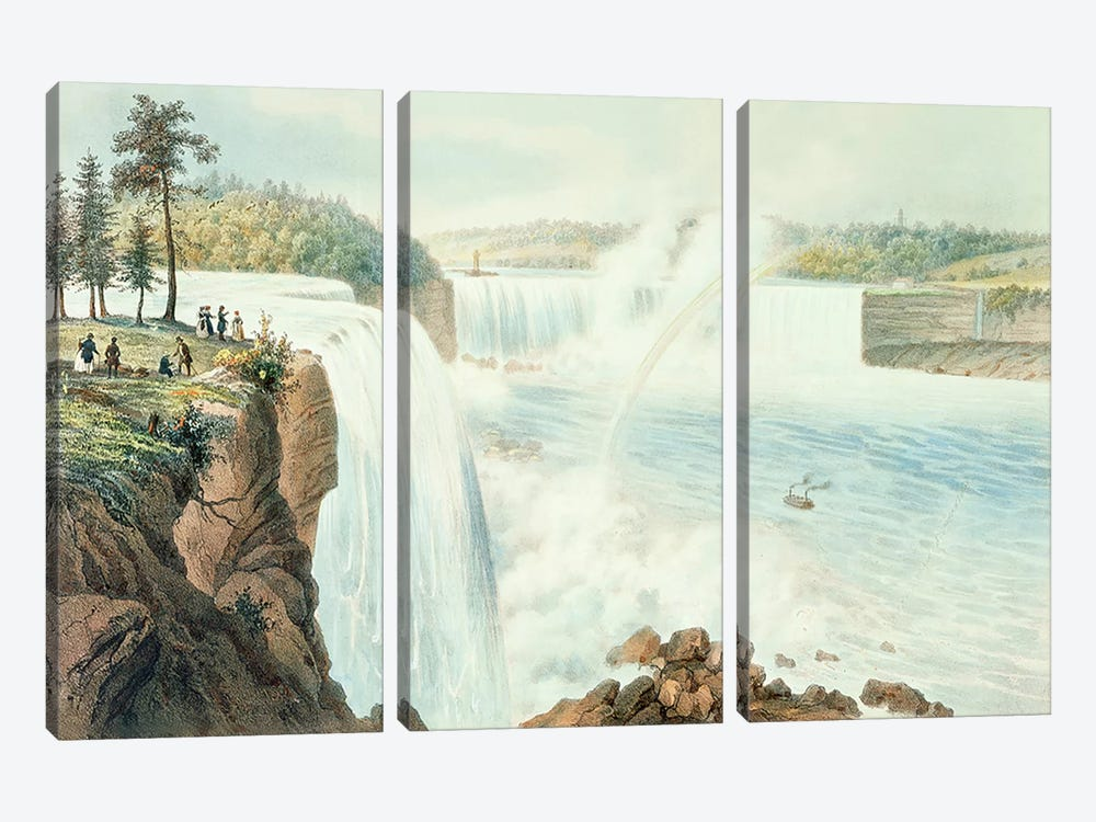 Niagra Falls by Augustus Kollner 3-piece Canvas Artwork