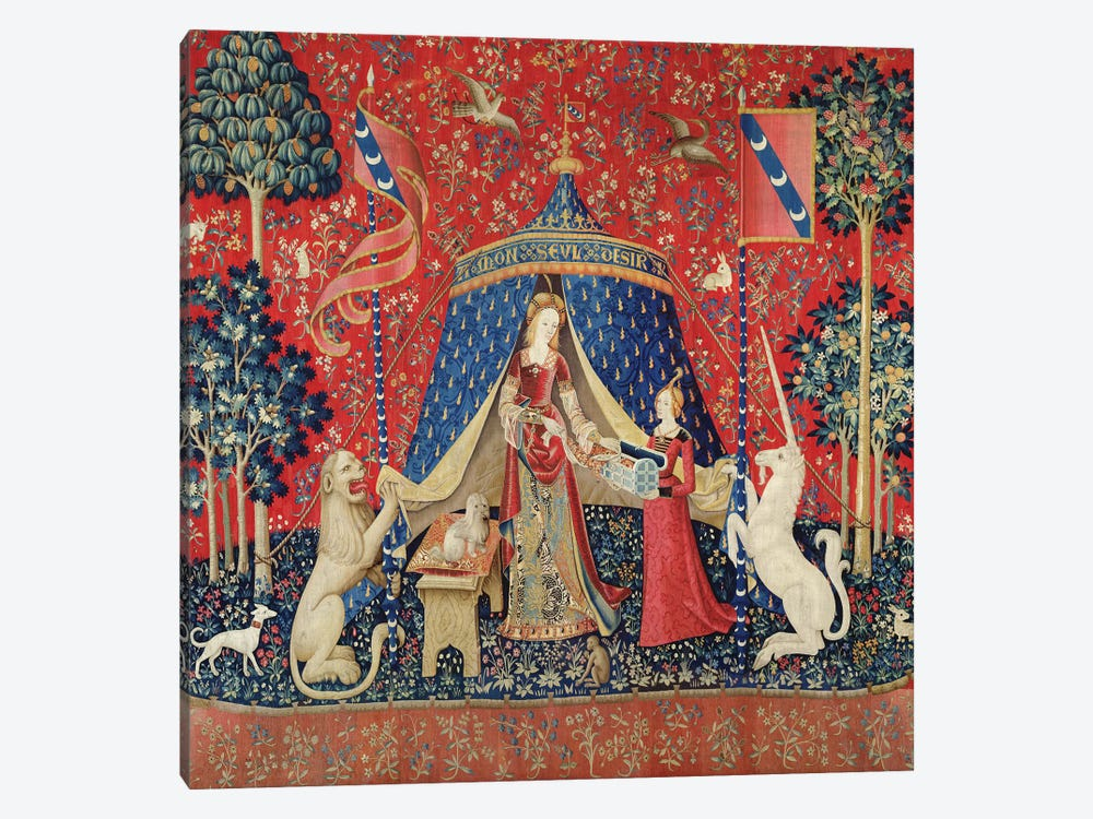 The Lady and the Unicorn: 'To my only desire'  by French School 1-piece Art Print