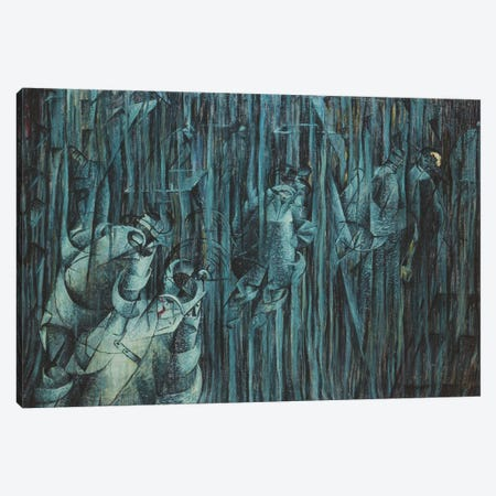 States of Mind: Those Who Stay, 1911  Canvas Print #BMN3810} by Umberto Boccioni Canvas Wall Art
